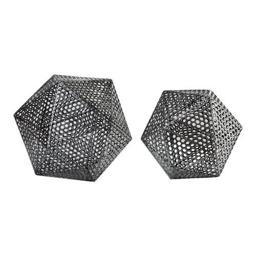 Uttermost Kimora Aged Icosahedrons S/2