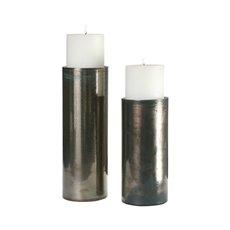 Uttermost Amala Iridescent Candleholders S/2