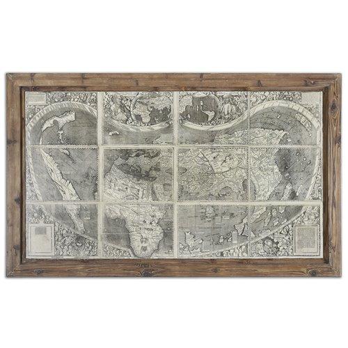 Uttermost Treasure Map Framed Art