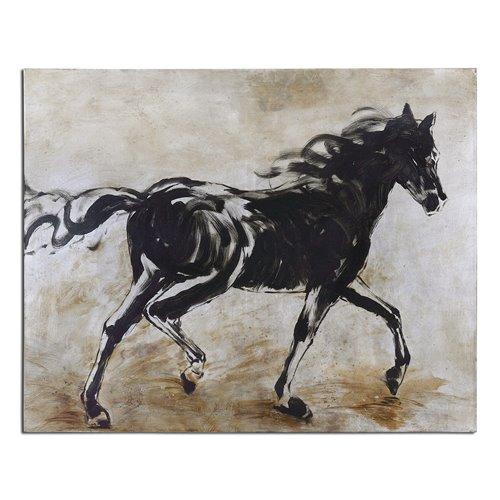 Uttermost Blacks Beauty Horse Art