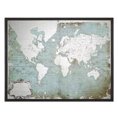 Uttermost Mirrored World Map