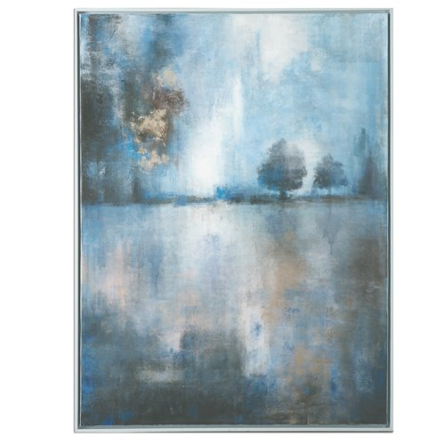 Uttermost Lake At Dusk Hand Painted Art