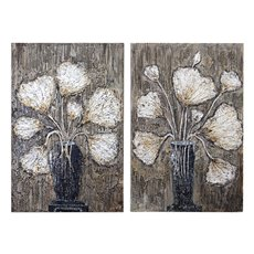 Uttermost Clear Water Stems Floral Art S/2