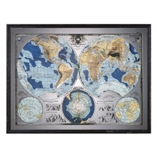 Uttermost Mirrored World Map