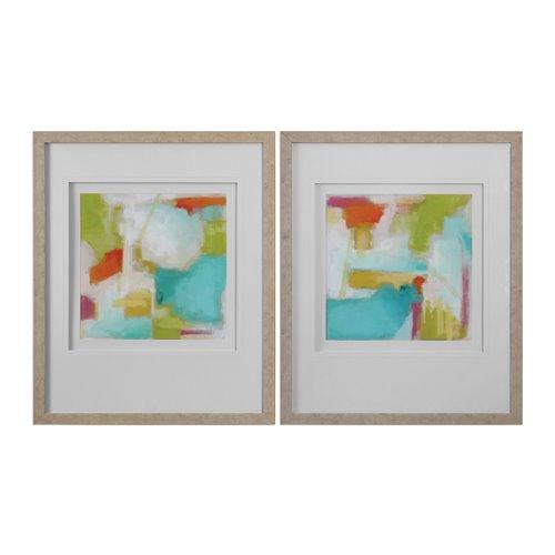 Uttermost Color Space Watercolor Prints S/2