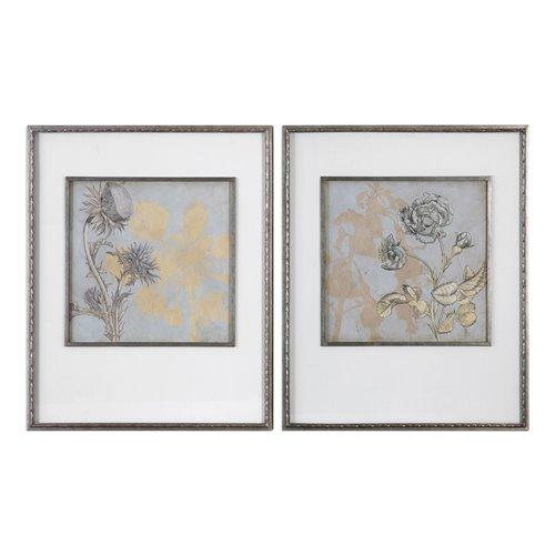 Uttermost Shadow Florals Prints S/2