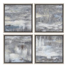 Uttermost Shades Of Gray Hand Painted Art S/4