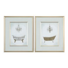 Uttermost Gilded Bath Prints S/2