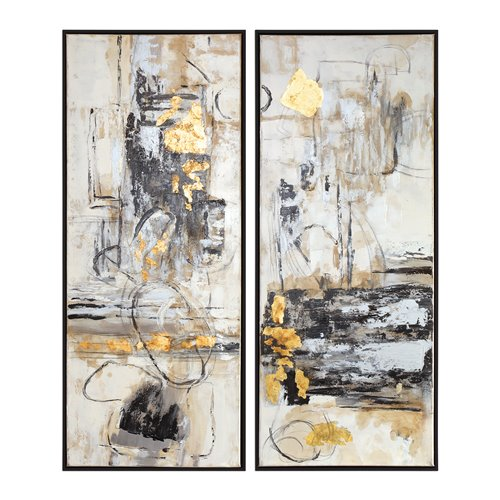 Uttermost Life Scenes Abstract Art S/2