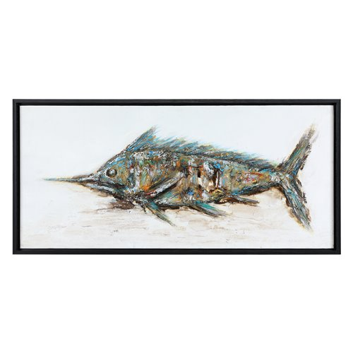 Uttermost Blue Marlin Hand Painted Art