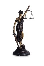 Bronze Lady Justice Sculpture on a Marble Base