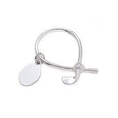 Silver Plated Golf Key Ring with ID Tag