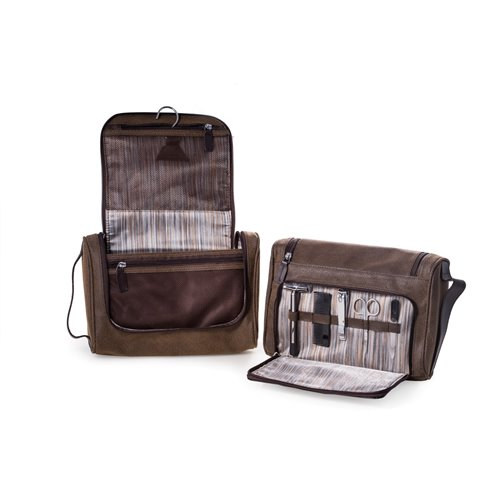 Hanging Toiletry Bag with 5 Piece Manicure and Grooming Set