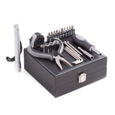 25 pc Tool Set in Black Leatherette Case
