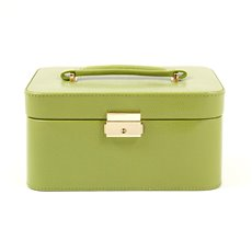 Lime Green Lizard Debossed Leather Jewelry Box