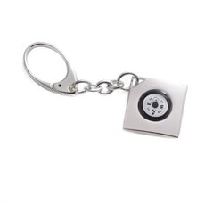 Silver Plated Key Ring with Compass
