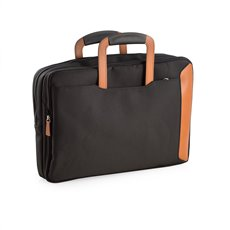 Saddle Leather and Ballistic Nylon Briefcase which Converts to a Back Pack and Oversized Bag with Computer Compartment