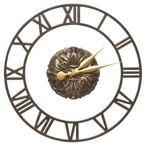 "Cambridge Floating Ring 21"" Indoor Outdoor Wall Clock, French Bronze"