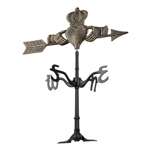 Claddagh Rooftop Weathervane, Black Gold