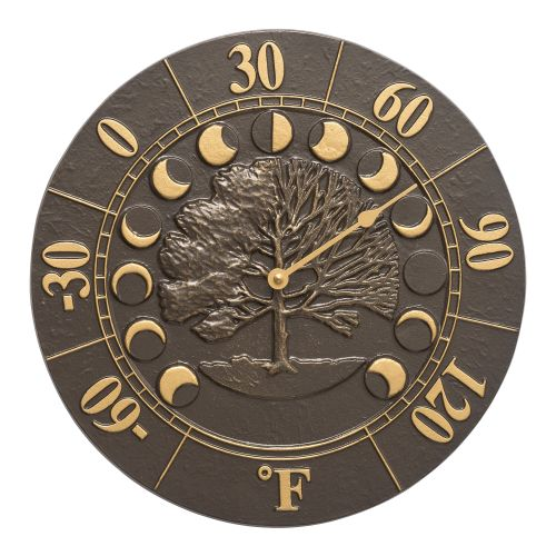 "Times And Seasons 12"" Indoor Outdoor Wall Thermometer, French Bronze"