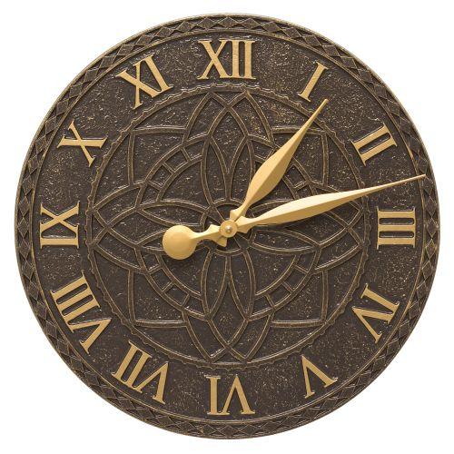 """Artisan 16"""" Indoor Outdoor Wall Clock , French Bronze"""