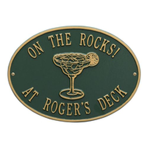 Personalized Margarita Plaque, Green / Gold