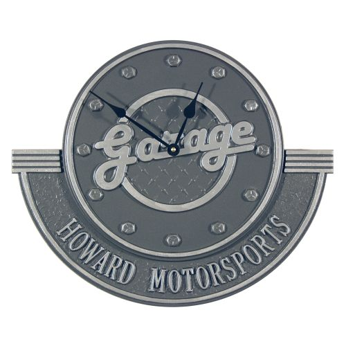 Personalized Garage Clock , Pewter/Silver