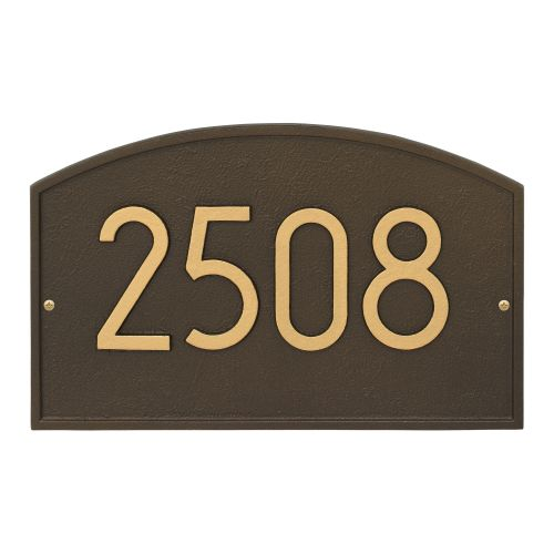 Legacy Modern Personalized Wall Plaque, Aged Bronze