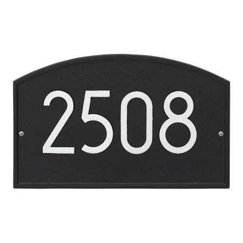 Legacy Modern Personalized Wall Plaque, Black/Silver