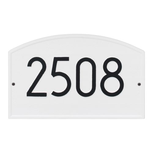 Legacy Modern Personalized Wall Plaque, White/Black