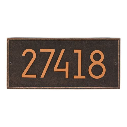 Hartford Modern Personalized Vertical Wall Plaque, Oil Rubbed Bronze