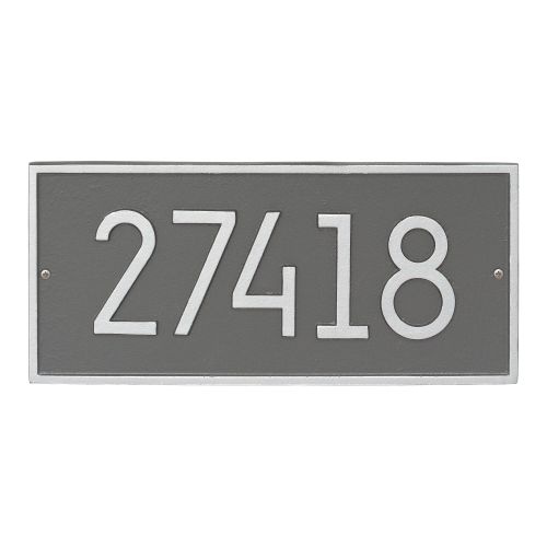 Hartford Modern Personalized Vertical Wall Plaque, Pewter/Silver
