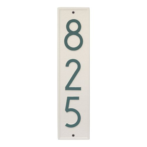 Delaware Modern Personalized Vertical Wall Plaque, Pewter / Silver
