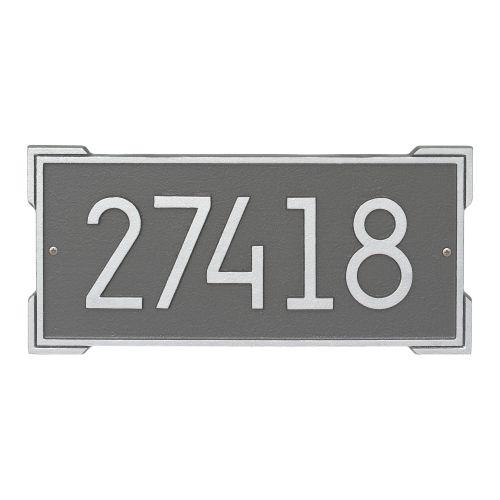 Roanoke Modern Personalized Wall Plaque, Black/Silver