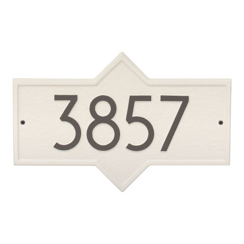Hampton Modern Personalized Wall Plaque, Pewter/Silver