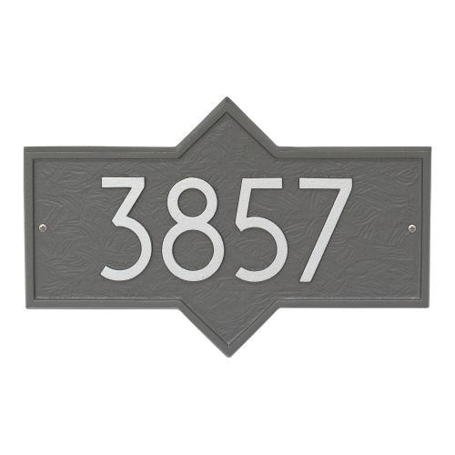 Hampton Modern Personalized Wall Plaque, Black/Silver