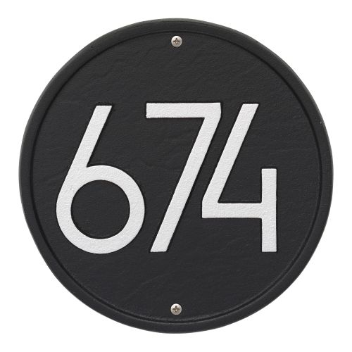 Round Modern Personalized Wall Plaque, Oil Rubbed Bronze