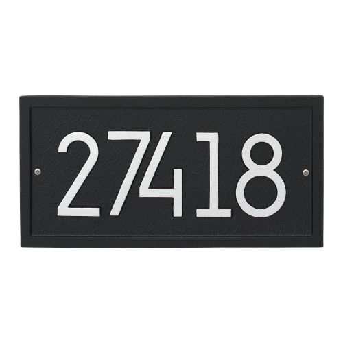Rectangle Modern Personalized Wall Plaque, Oil Rubbed Bronze