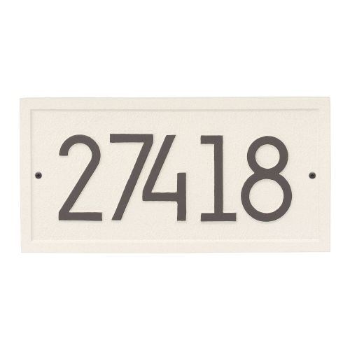 Rectangle Modern Personalized Wall Plaque, Pewter/Silver