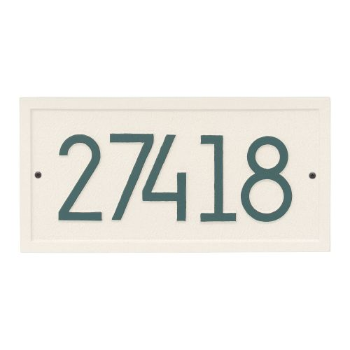 Rectangle Modern Personalized Wall Plaque, White/Black