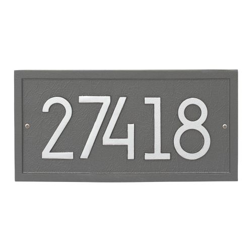 Rectangle Modern Personalized Wall Plaque, Black/Silver