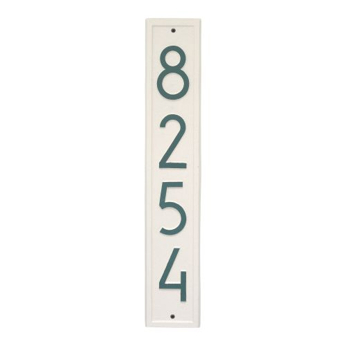 Vertical Modern Personalized Wall Plaque , White/Black
