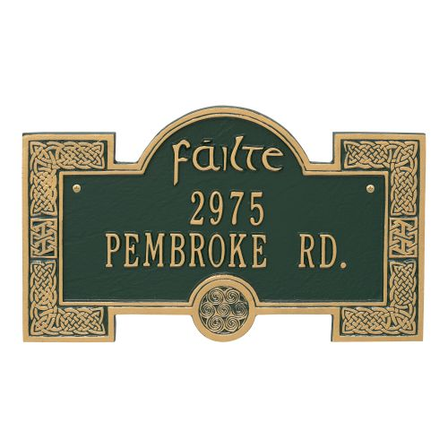 Failte Plaque, Bronze Gold