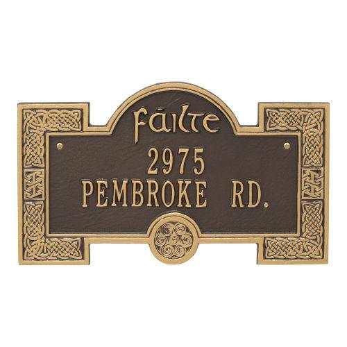 Failte Plaque, Bronze Verdigris