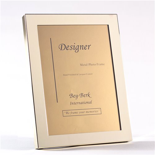 Brass 8x10 Picture Frame with Easel Back