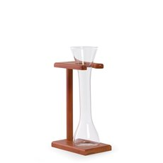 Quarter Yard of Ale Glass with Wooden Stand, 12oz