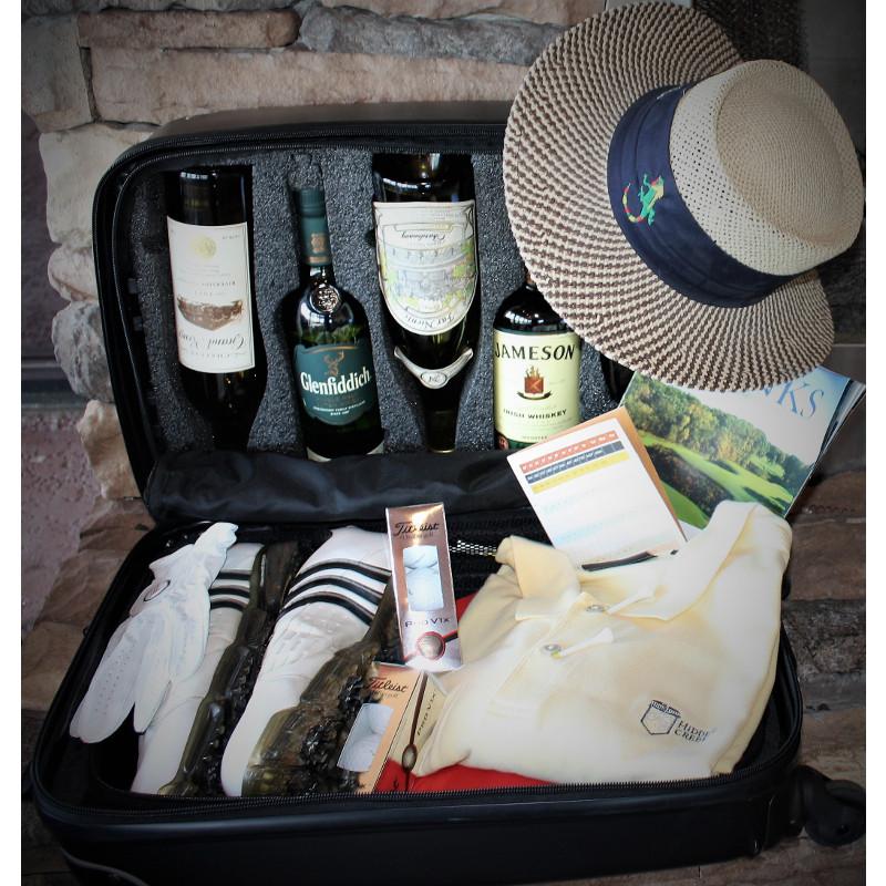 VinGardeValise Piccolo 5 Bottle Hardside Wine Luggage