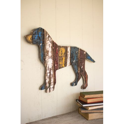 Reclaimed Wood Dog Wall Hanging