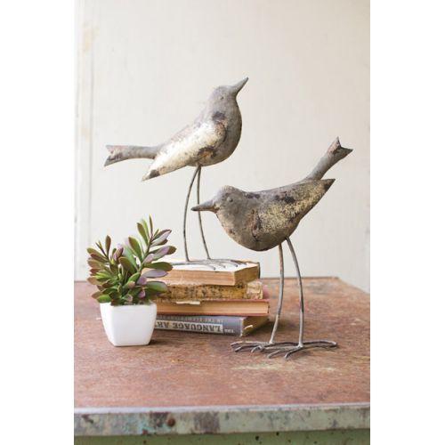 Metal Birds - Rustic Grey Set of 2