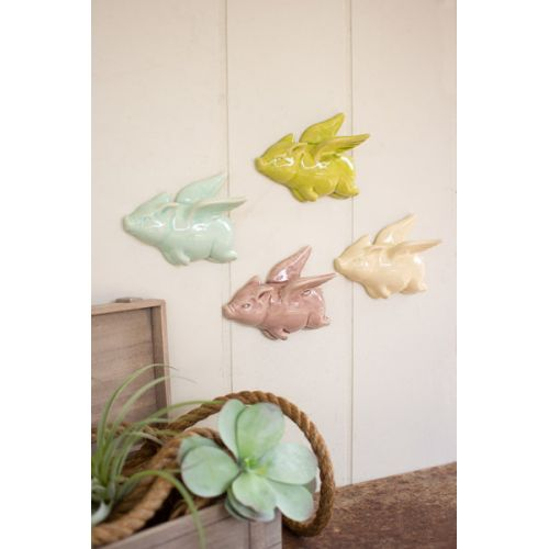 Ceramic Flying Pigs Set of 4